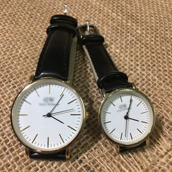 Đồng hồ đôi mặt không số - Giá 1 đôi