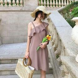 Đầm suông trễ vai cao cấp giá sỉ