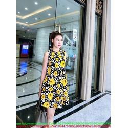 Đầm công sở kiểu dáng suông họa tiết hoa xinh xắn DSV152