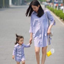 Đầm sơ mi trẻ trung cho mẹ và bé HGS 1101