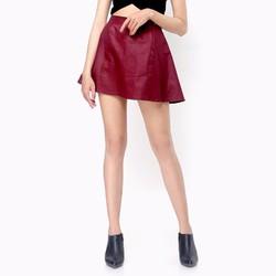 Chân váy xòe xuất khẩu màu đỏ