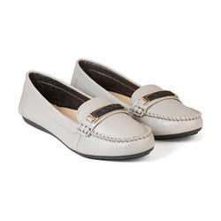 Giày Mọi Nữ Da Bò Đế Bằng HC1380