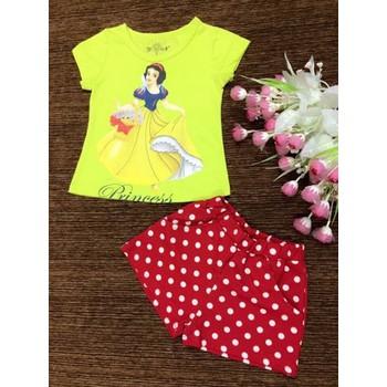 Bộ quần áo thời trang hè xuất khẩu giá rẻ cho bé gái Size: 1-8 tuổi
