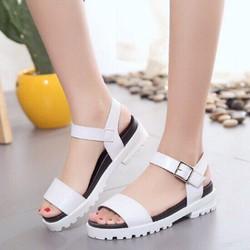 Giày Sandal đế bệt nữ đơn giản nhập loại I