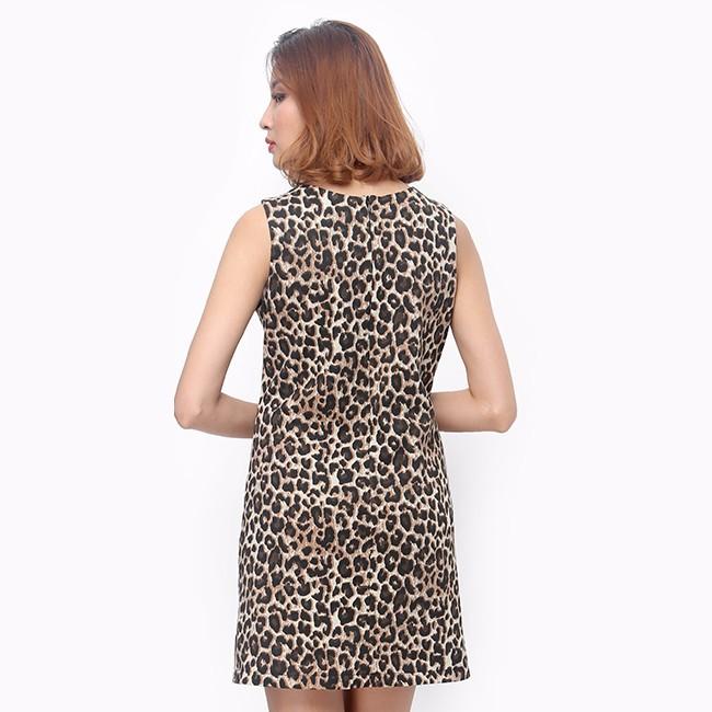 Đầm suông nữ họa tiết da beo sành điệu 2