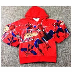 Áo khoác bé trai người nhện đỏ cá tính 9-14 tuổi CC150
