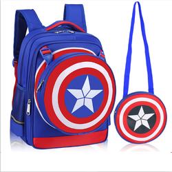 Balô đi học 2 trong 1 American Captain cao cấp kèm túi nhỏ cho bé QS76