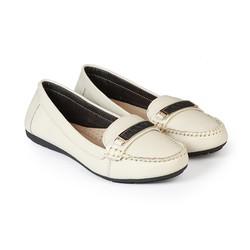 Giày Mọi Nữ Da Bò Đế Bằng HC1379