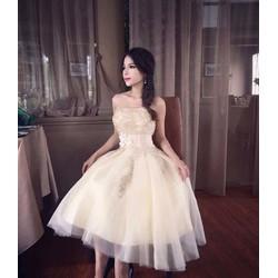 Đầm xoè công chúa cúp ngực ren hoa - A30943
