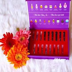 Bộ Mẫu Thử Full 17 Mùi Hương Nước Hoa Charme