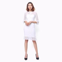 Đầm ôm body màu trắng