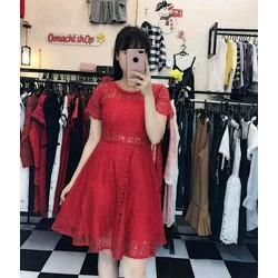 Đầm xòe ren tay con hàng Quảng Châu