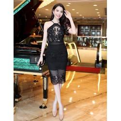 Đầm Ren Cổ Yếm Cao Cấp Tuyệt Đẹp - DXM723