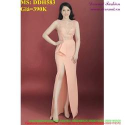 Đầm dạ hội dự tiệc xẻ đùi sexy chất liệu ren đẹp DDH583