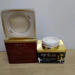 Cream Sâm Dưỡng Ẩm Và Trắng Da My Gold Koreared Ginseng White 50ml