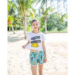 Bộ đồ nữ mùa hè quần họa tiết
