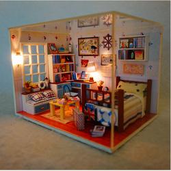 Mô hình nhà búp bê DIY HAPPY TIME với tông màu rực rỡ bắt mắt