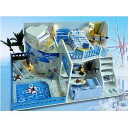 Mô hình nhà búp bê DIY biệt thự 2 tầng có bể bơi