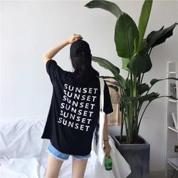 ÁO THUN TAY LỠ SUNSET IN SAU LƯNG
