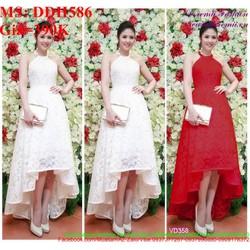 Đầm dạ hội kiểu cổ yếm thiết kế đuôi tôm xinh đẹp DDH586