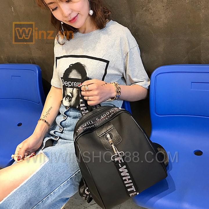 Balo Thời Trang Hàn Quốc BL303 Màu Đen Phối Xám bởi Winwinshop88 3