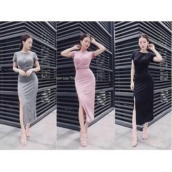 Đầm body xẻ tà