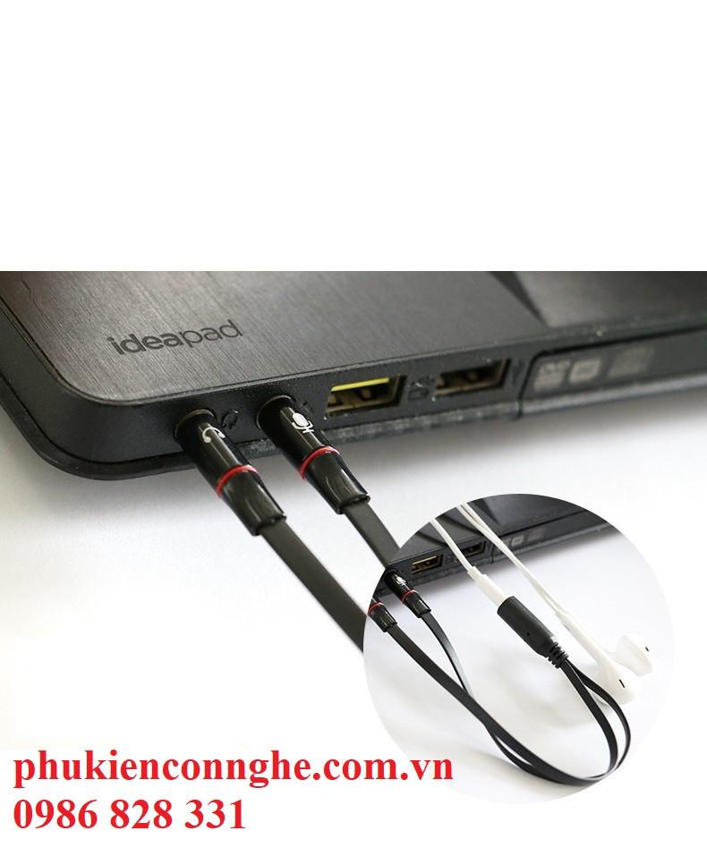 Cáp gộp audio và micro 3.5 mm 1