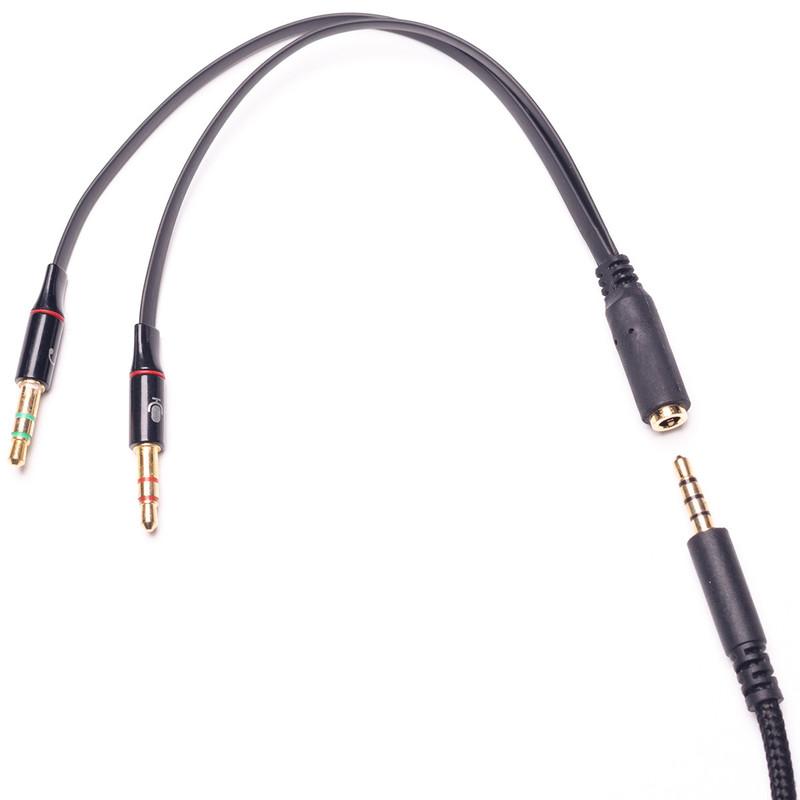 Cáp gộp audio và micro 3.5 mm 3