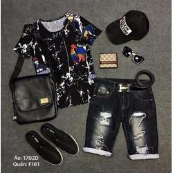 Quần Short Jean Form Hàn Quốc