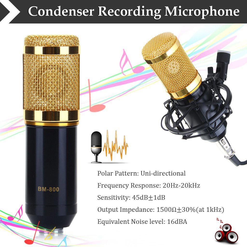 Micro Thu Âm BM-800 Có Đế 2