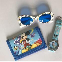 Bộ 3 món mắt kính, đồng hồ, ví da đáng yêu cho bé