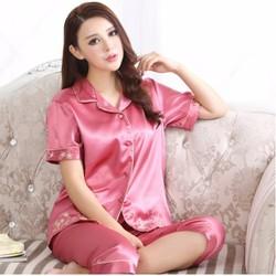 Bộ đồ mặc nhà áo và quần lửng nữ -G9987