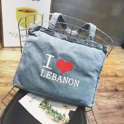 túi tote i love lebanon Mã: TX1497