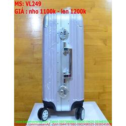 Vali kéo du lịch nhựa hàng thái chống thấm kèm khóa số VL249