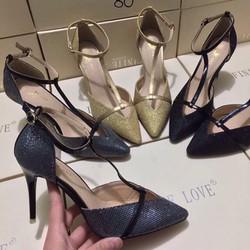 giày cao gót ánh kim