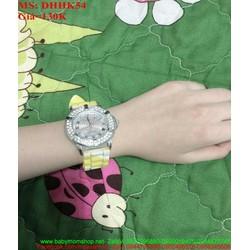 Đồng hồ đeo tay dây cao su mặt đính đá thời trang DHHK54