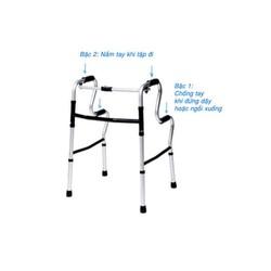 Khung tập đi cho người già– Khung Nhôm gấp 2 cấp, đẩy lệch – 965L