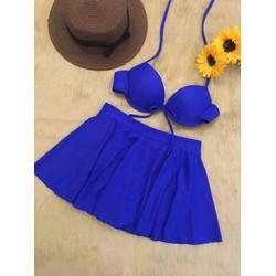 Bikini Hai Mảnh Dạng Váy Xanh Coban Rosabkn61