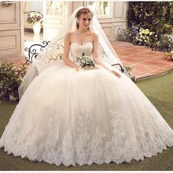 Áo cưới công chúa cúp ngực màu CHAMPAGNE