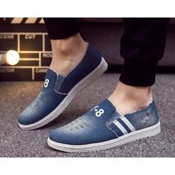 Giày nam slip on vải jean wax Y8 màu nhạt