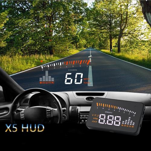 Worldmart bộ hiển thị và cảnh báo tốc độ lên kính lái hud x5 đa năng cho xe hơi