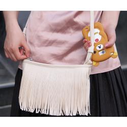 Hàng giá sốc - Túi đeo chéo kiểu tua rua da mềm cực chất QSTORE QS79