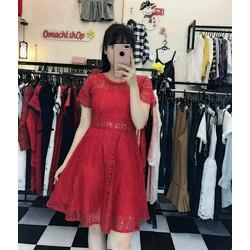 Đầm xòe ren tay con hàng Quảng Châu siêu xinh