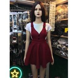Set váy yếm áo thun