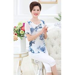 áo hoa trung niên cao cấp hàng nhập TOP96