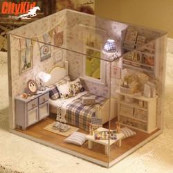 Mô hình nhà gỗ DIY cho bé gái Cute Room H-003