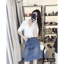 Set áo sơ mi váy jean
