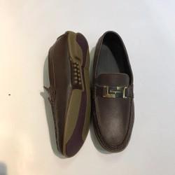 Giày lười da nam cao cấp chữ H