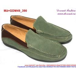 Giày mọi nam phối da nâu phong cách trẻ trung sành điệu GDM49