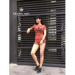 Bộ quần áo thể thao nữ short trẻ trung năng động
